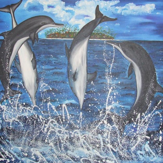 Dolphins 160x105cm.JPG