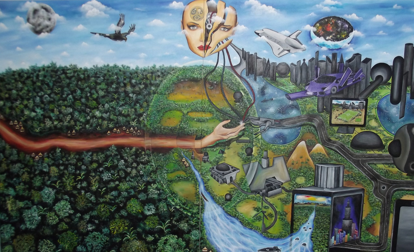 The transfer of knowledge 270 x 170 cm.J