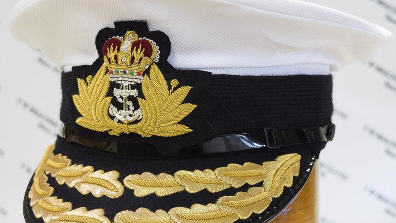Royal Navy Admirals Cap (2% Gold Peak)