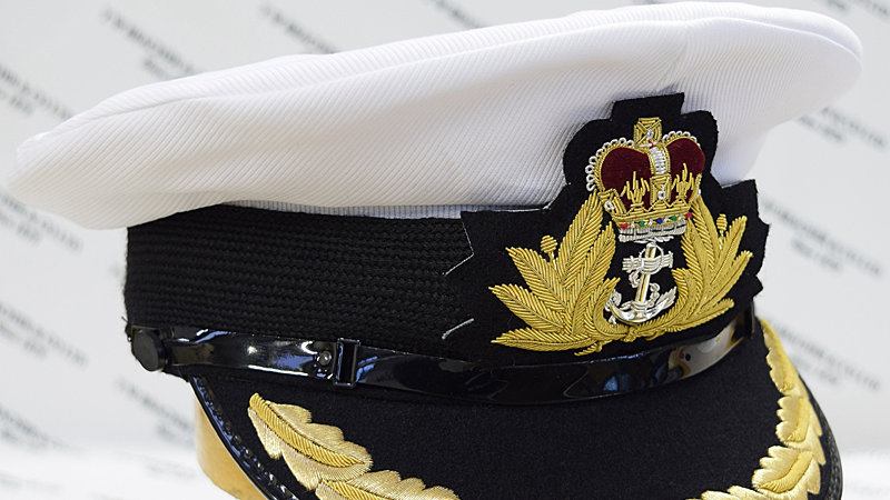 Royal Navy Commanders Cap (2% Gold Peak)