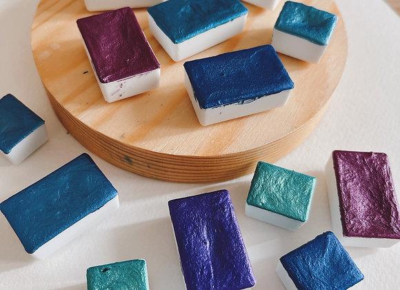Blues & Purples (Individual Pans)