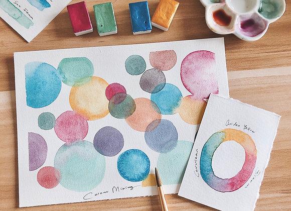 Basic Watercolour + Colour mixing (Online class)