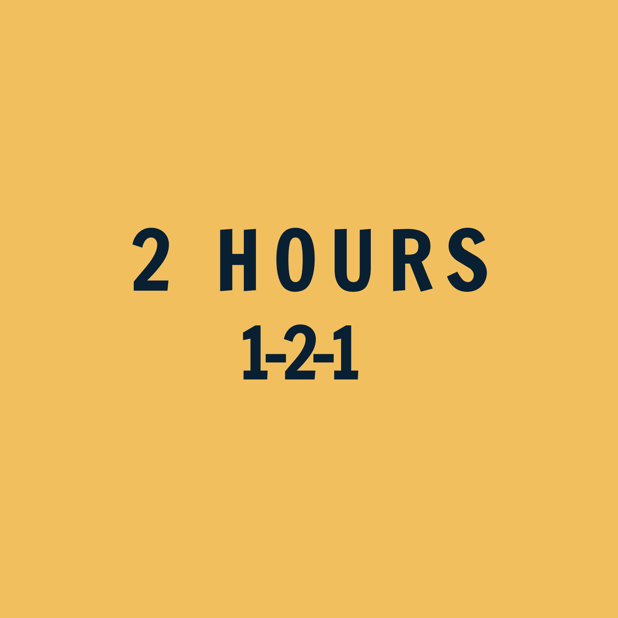 1-2-1 Coaching 2 Hours ($)