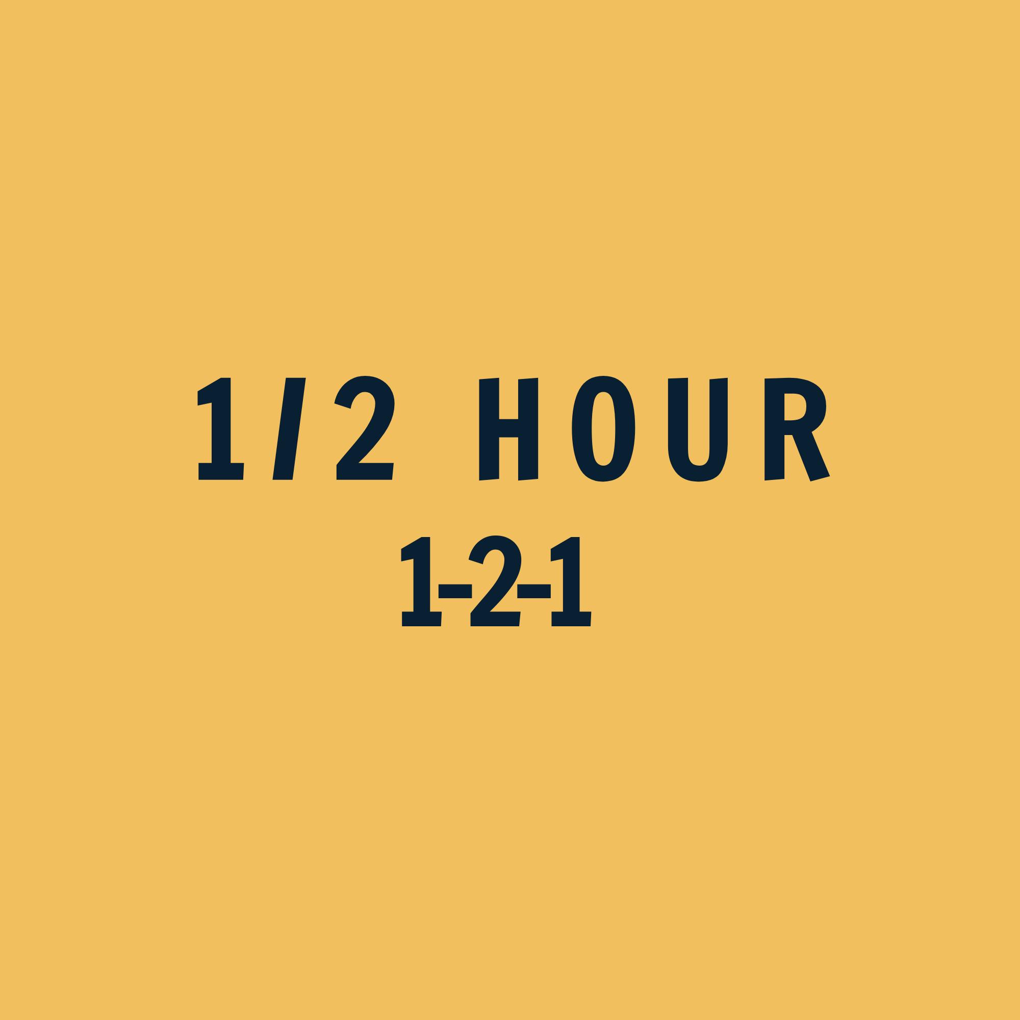 1-2-1 Coaching 1/2 Hour ($)