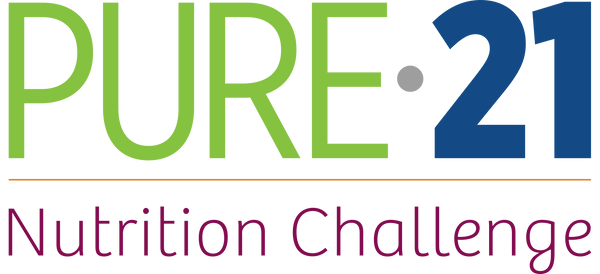 Pure 21 logo with tagline (Nutrition Cha