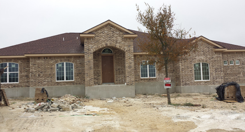 Custom Home Build- Masonry installation