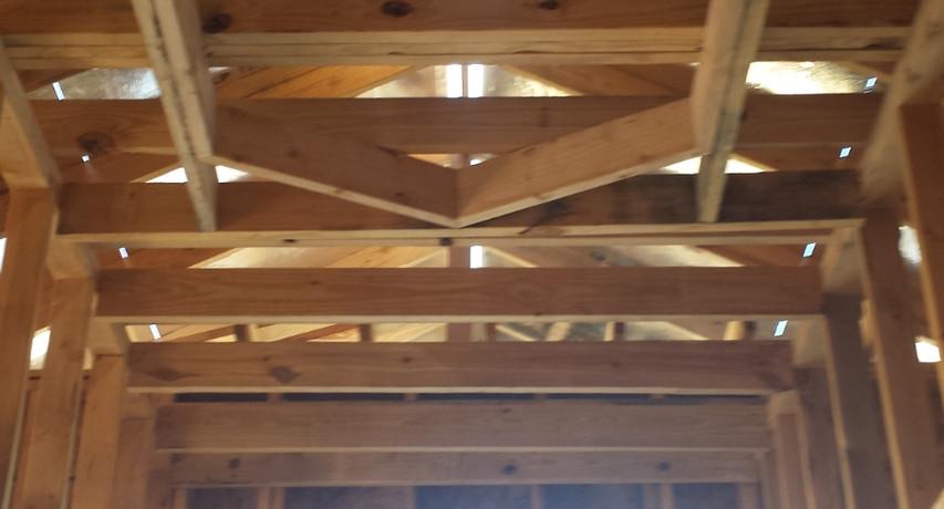 Custom coffered ceiling design