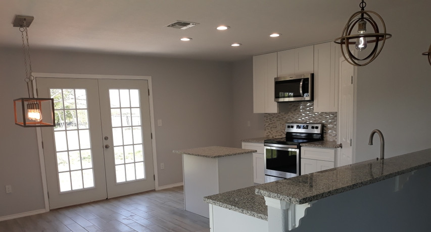 Custom flooring and kitchen finished