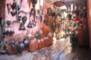 Souvenir lamp shop in the medina, Morocco