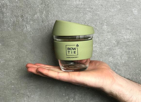 8oz, Bow & Tie JOCO Reusable Glass Cup