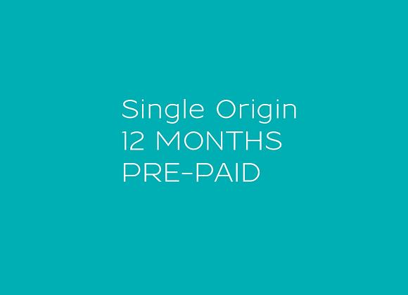 Single Origin - 12 MONTH Pre-paid Coffee Subscription