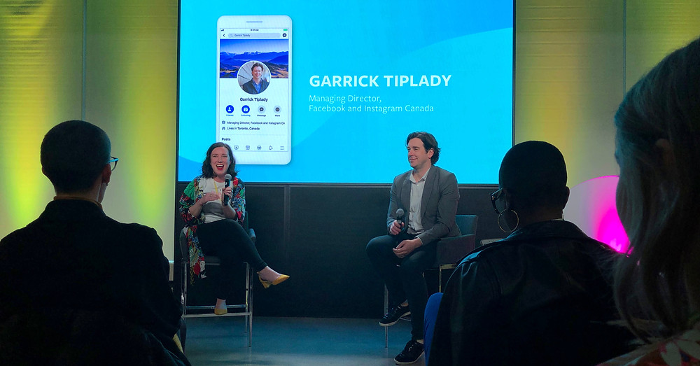 Rachel Kelly of Make Lemonade and Garrick TipLady of Facebook/Instagram at the Masterclass