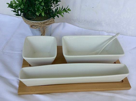 3 Dish Tray Set