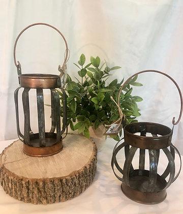 Mini copper lanterns