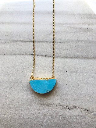 Gem Moon Necklace