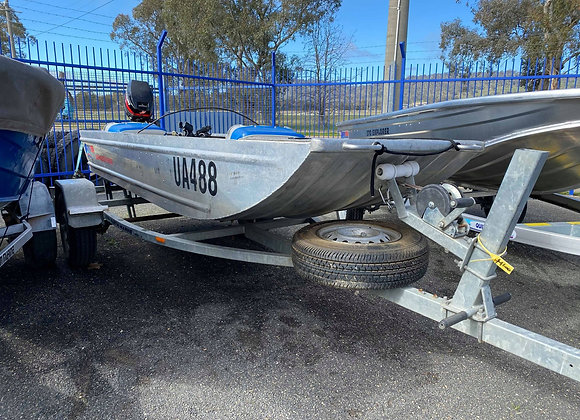 Quintrex 12ft Punt // Mercury 15 // Easytow Trailer