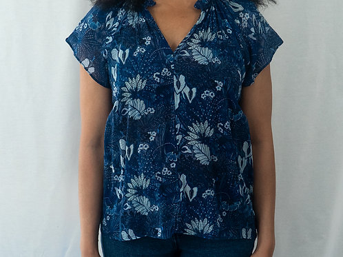 GAP Ruched Neck Top
