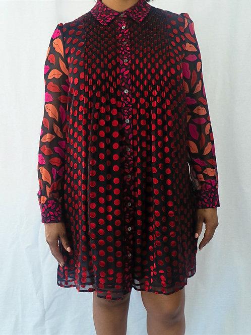 DVF Button Up Shirt Dress