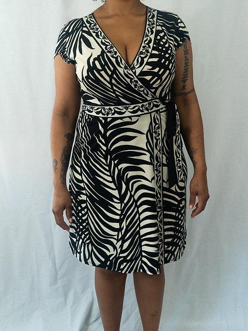Donna Morgan Palm Print Wrap Dress