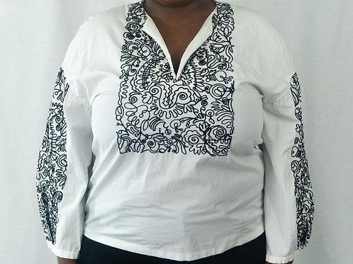 Tunic w/Black Embroidery