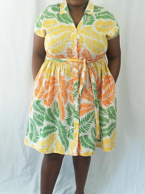Boden Fern Print Shift Dress
