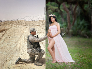 Military Couple Takes Maternity Photos While Husband is Deployed | Maternity | Miami, FL
