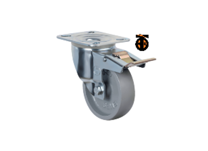 Термостойкое колесо с тормозом EM01 VKV F 100