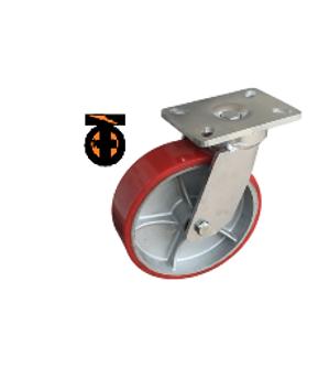Колесо б/г полиуретан. СВЕРХМОЩНОЕ поворот. 150мм( 8060-01-PCI ) шариковый подши
