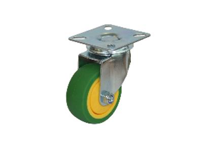 Колесо ЗЕЛЕНАЯ мягкая резина поворотная 50мм (SCG25)