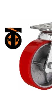 Колесо б/г полиуретановое поворотное 125    SCP55