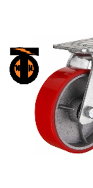 Колесо б/г полиуретановое поворотное 100   SCP42