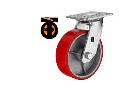 Колесо б/г полиуретановое поворотное D-200   SCP80