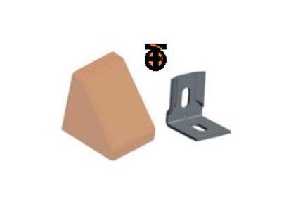От 10 шт. Уголок 20*20*17*1,2 с заглушкой пирамида ( обливной дуб(16) )