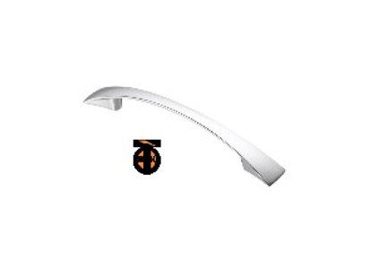 Ручка-скоба плоские концы, хром, 96 мм