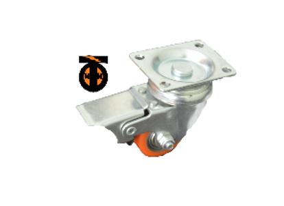 Колесо полиуретан. поворот. с тормозом 35 мм (903035)  1044035