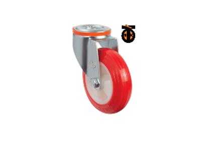 Поворотное полиуретановое колесо с креплением под болт EM04 ZKP 80 (Турция)