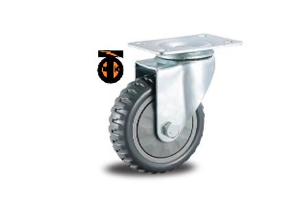 Колесо промышленное ЛИТОЕ поворотное 125 мм  4001125-ЛИТ
