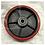 Thumbnail: Колесо рулевое (полиуретан) для гидравлических тележек. D 200 мм с подшипниками