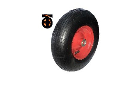 Колесо пневматическое металлический диск 310мм (20мм) (3.50-6/4.00-6)  PR1302(20