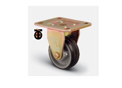 Колесо большегрузное обрезиненное неповоротное 125 мм ED02 VBR 125 , диск-чугун