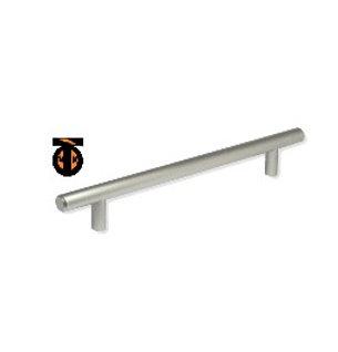 Ручка-рейлинг 224мм (никель) ф12мм