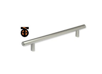 Ручка-рейлинг 128мм (никель) ф10мм