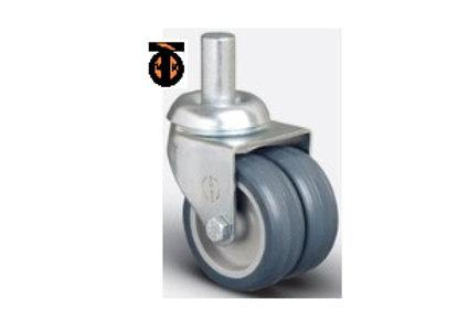Колесо аппаратное сдвоенное болт М10 50 мм , диск-полипропилен