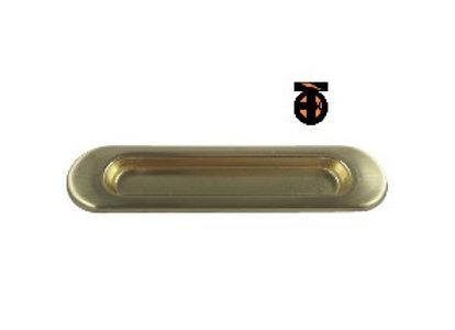 Ручка врезная для шкафов-купе и дверей 2 шт (мат.золото)