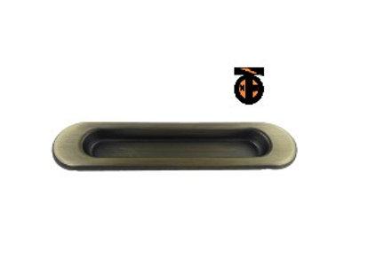 Ручка врезная для шкафов-купе и дверей 2 шт (мат.бронза)