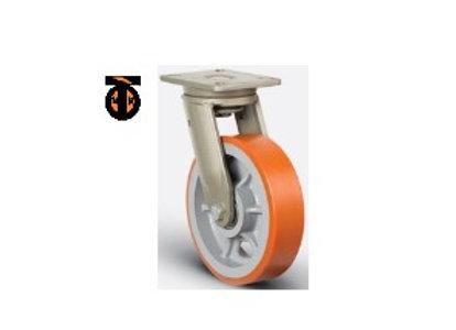 Колесо сверхмощное полиуретановое поворотное 250 мм ( EV01 VBP 250 ), диск-чугун