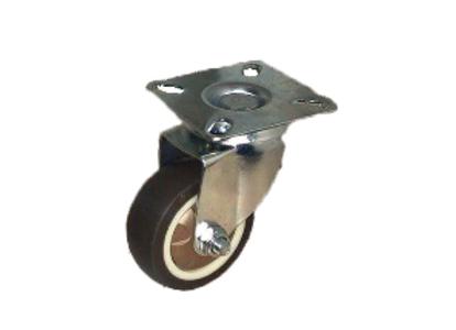 Колесо_коричневая мягкая резина поворот. 50мм (SCG25)