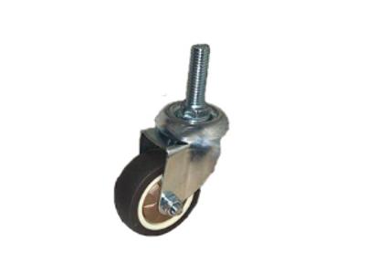 Колесо коричневая мягкая резина болтовое крепление (М10) 50мм (SCTG25)
