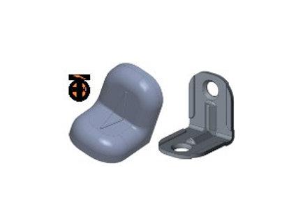 От 10 шт. Уголок 20*20*16*1,2 с заглушкой ( металик(13) )