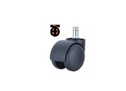 Колесо мебел. со штырем М11 усиленное 50мм (черный пластик)